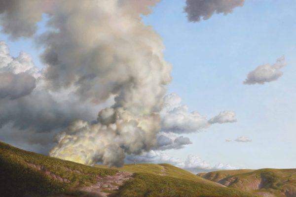 Title; Rupture. Medium ; Oil on linen. Size; 56cm by 83cm . 2012